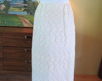 Vintage Alfred Angelo Designed by Edythe Vincent Wedding Dress, Tiered Column Capelet, Guipure LAce Small 4