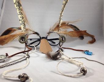 Owl costume glasses