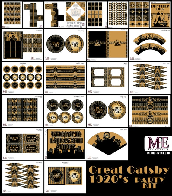 Items Similar To 1920 S Party Gatsby Banner Art Deco
