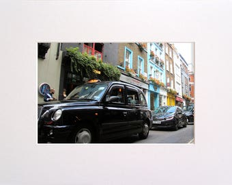 London Cab, Photo in 30x23 cm Mat Board, Wall Art, Home Decor, Limited Edition Photography