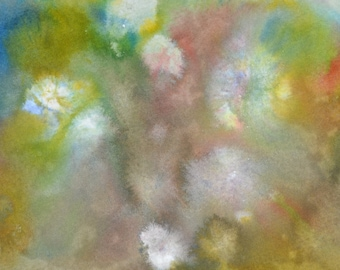 """Original Painting - 5"""" x 7"""" - Abstract - Multicolored Watercolor Painting - 2015-356"""