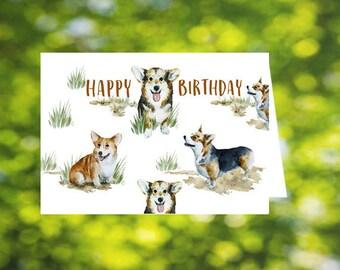 Corgi Birthday Card: Printable Corgi Card - Corgis - Download - Happy Birthday Card - Dogs - Dog Birthday Card - Birthday Card for Dog