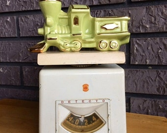 """Vintage Retro Metal Detecto Scale Made in Brooklyn NY 6.5"""" High FREE USA Shipping"""