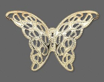 Pendant Filigree Gold Butterfly 40x26mm