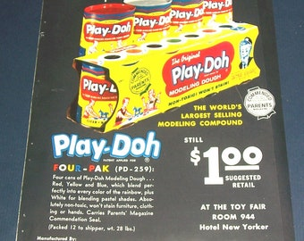 1960s Play-Doh sell-sheet