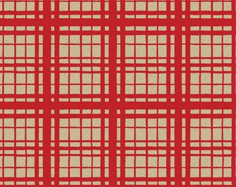 """Red & Kraft Brown Plaid Checkered Tissue Paper Gift Wrapping 15""""x20"""" Sheets (Free Shipping!)"""