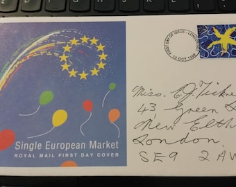 first day cover ,single european market 13th octoberr 1992