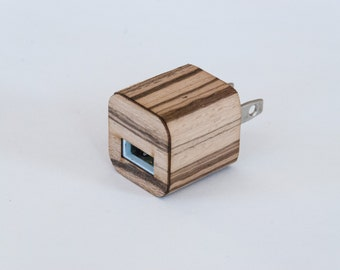 Zebrawood Skin for iPhone Charger - Compatible with iPhone 6, iPhone 6S, iPhone 5 / 5S, iPad & More!