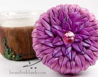 Woodland Floral Stash Jar Pink Ombre- ready to ship  - air tight, water proof - 4 oz.