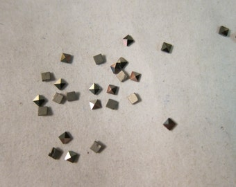 1.8x1.8mm, Natural Marcasite Gemstones, Flat-Backed Faceted Square - Available in 4, 6, 10 & 20 Stone Pkgs and also in Larger Pkgs