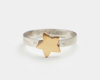 Silver star ring, delicate silver star ring, star ring, star jewelry, silver star jewelry, silver ring, delicate ring, minimalist jewelry