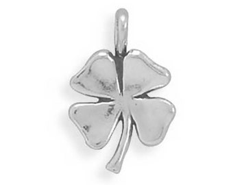 Sterling Silver Lucky Four Leaf Clover Charm Pendant Good Luck