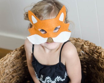 6 Animal Mask Patterns- Fox, Wolf, Gorilla, Tiger, Bear, Deer