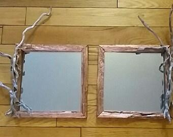 Driftwood Art, Driftwood Mirror, Mirror Hanging, Driftwood Wall Art, Beach, Wedding, Gift, Craft