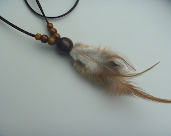 Necklace of feathers