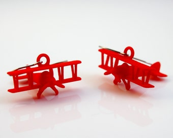 3D PRINTED Airplane Earrings