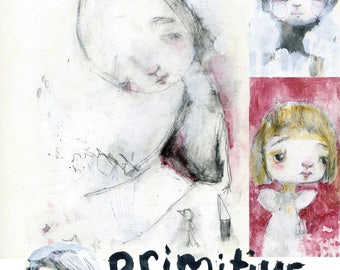 Primitive Portraits 4 REBOOT online class - by Mindy Lacefield