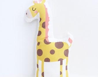 Giraffe, Nursery Pillow, Safari Nursery, Kids Gift, Toddler Gift, Nursery Pillow, Stuffed Animal, Girl, Boy, Giraffe Cushion, Giraffe Pillow