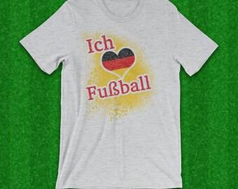 Ich Liebe Fussball T-Shirt, I Love Soccer T-Shirt, German Flag, German Soccer, Deutsch fußball, Fußballfan, Weltmeisterschaft, Soccer Tee