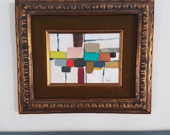 Mid Century modern style abstract with frame