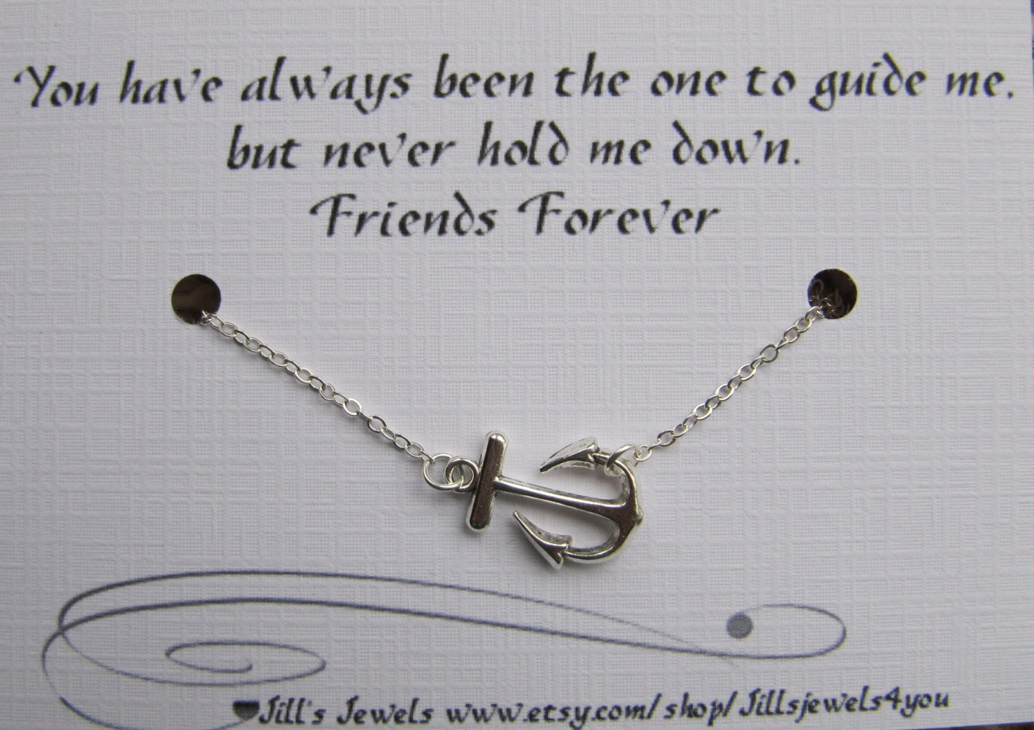 Quote To Friends About Friendship Best Friend Anchor Charm Necklace And Friendship Quote