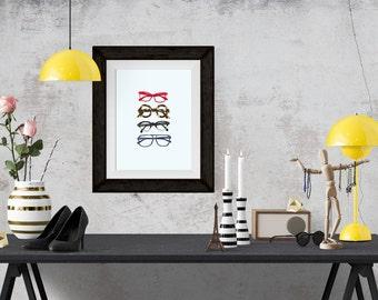 Four Eyes Fashion Illustration Art Poster