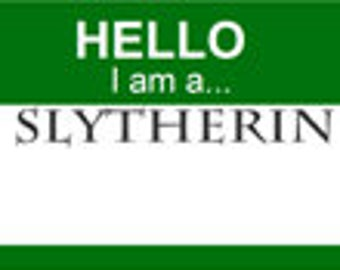Harry Potter Party Nametags - Slytherin - Digital Download