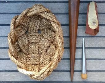 Nautical Fruit Bowl, Unique Boat Shaped Basket, Hand Woven, Natural Rustic Kitchen Storage, Natural Manila, Coastal Style.