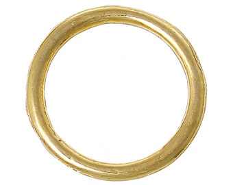 Closed, Soldered Jump Rings, 14mm, Gold Plated, , Connector, 20 count (JRC-14-G)