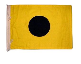 Letter I Cotton Nautical Signal Flag