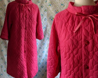 1960s Barbie pink quilted house coat