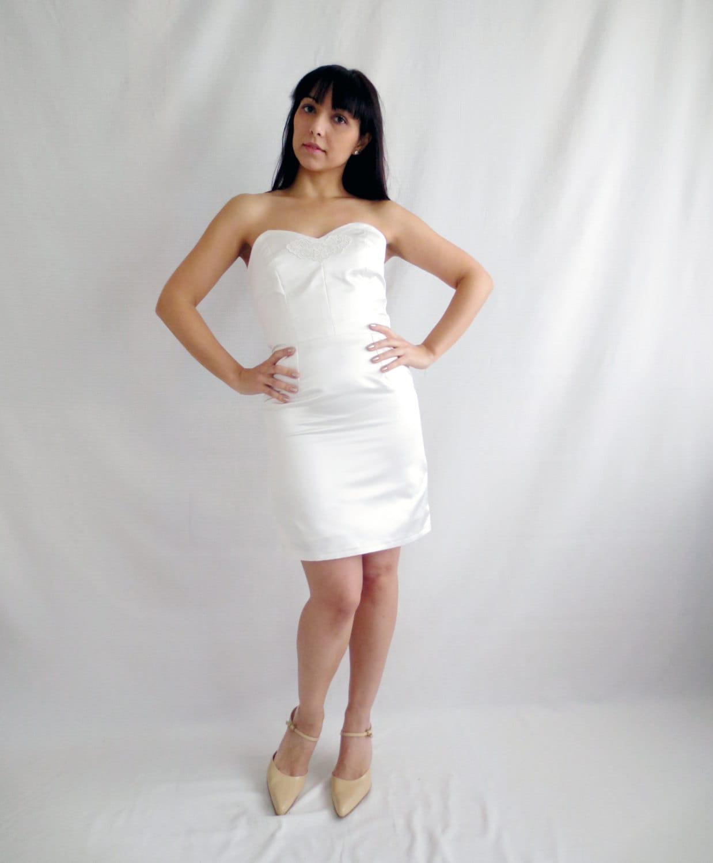 Short wedding dress ivory wedding dress 50s wedding dress