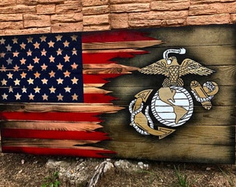 6x3ft Marine Flag