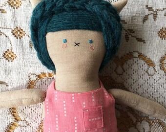 Cleopatra- Handmade Cloth Cat Doll