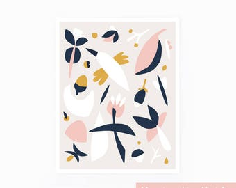 Scandinavian print, blush print, nursery print, bird print, minimalist art, kids print, pink, yellow, scandinavian art, nature print