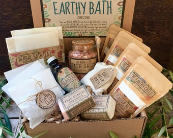 Deluxe bath gift set, pamper gift for women, luxury Bath Spa Kit, Bath gift set, natural Bath Box, thank you gift