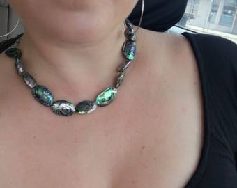 Abalone bead necklace
