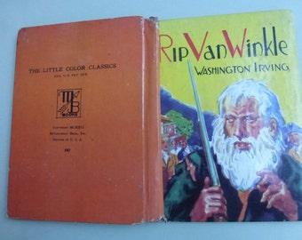 Vintage Childrens Book Rip Van Winkle by Washington Irving  Illustrated by Robert Graef