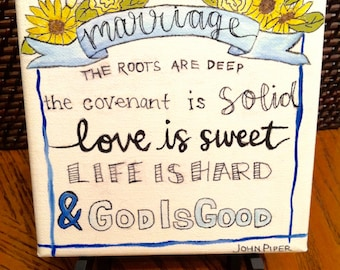 The Roots are Deep Marriage Canvas