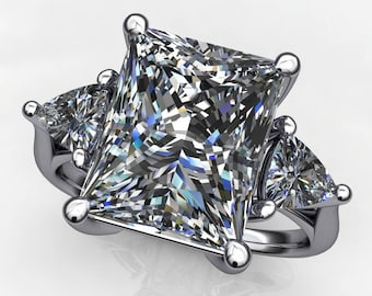 amelie ring - 4 carat radiant cut NEO moissanite engagement ring, anniversary ring