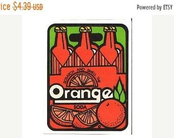 SALE Vintage Mello Smello Scratch and Sniff Orange Soda Sticker 80's