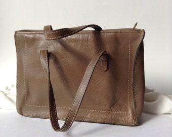 Vintage Ronay Genuine Leather Satchel / Handbag