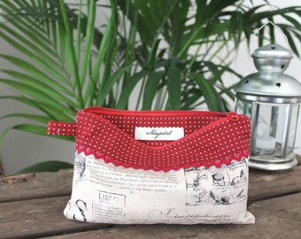 Cotton pouch handmade CAMILLE