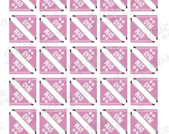 Set of 60 Gym Stickers for various Planners, Journals, Calendars