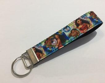 Moana Key Fob Keychain wristlet