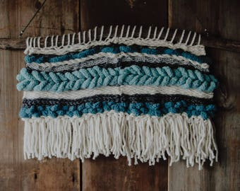 Soft Shades of Blue Handwoven Wall Hanging