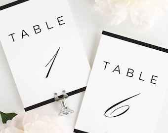 """Modern Glamour Table Numbers - 4x6"""""""