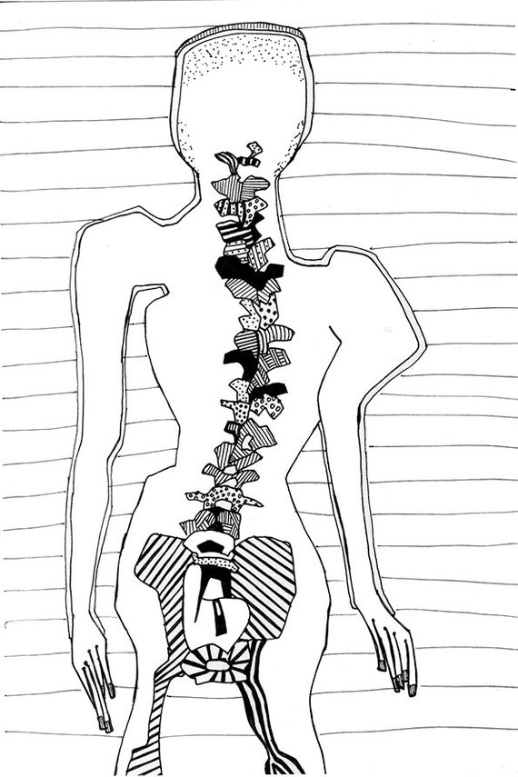 OSTEOPATÍA torso vista posterior del cuerpo humano