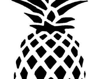 Pineapple Vinyl Car Decal Bumper Window Sticker Any Color Multiple Sizes Jenuine Crafts