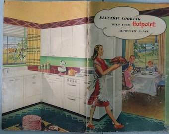 Electric Cooking With Your Hotpoint Automatic Range vintage cookbook